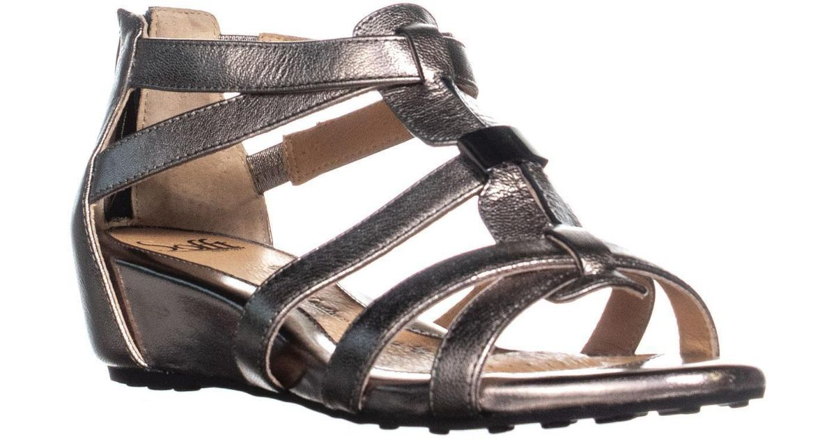 6b768fdcd5d Lyst - Söfft Bernia Ankle Wedge Sandals