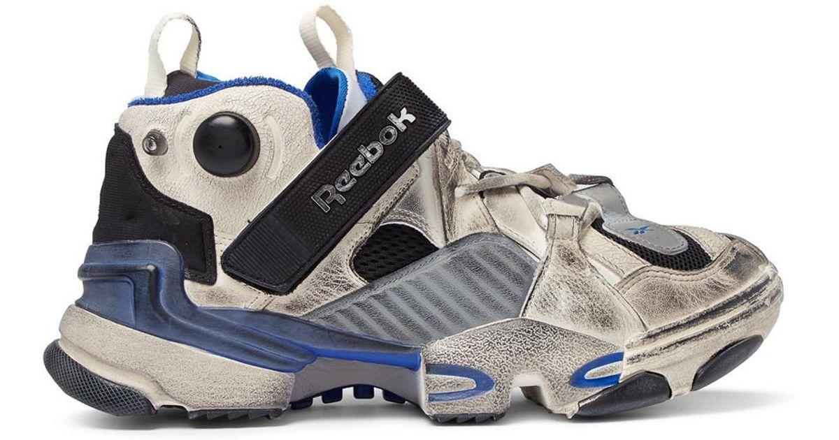 3a011182abf3 Vetements X Reebok Genetically Modified Pump Sneakers in Blue for Men - Lyst