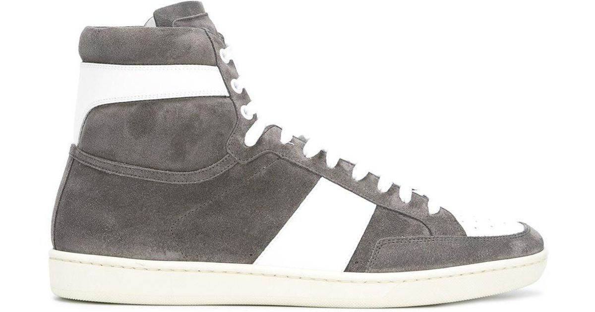 court classic hi-top sneakers - Grey Saint Laurent mroWQjmdp