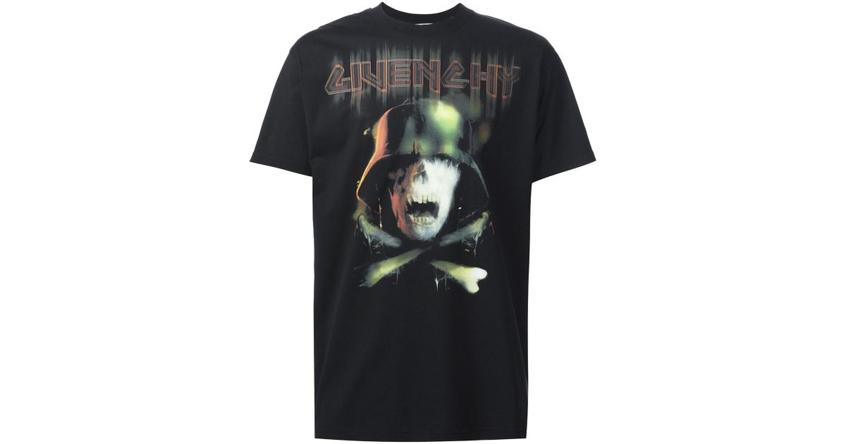 7afd40811c4c Givenchy Skull And Crossbones Print T-shirt for Men - Lyst