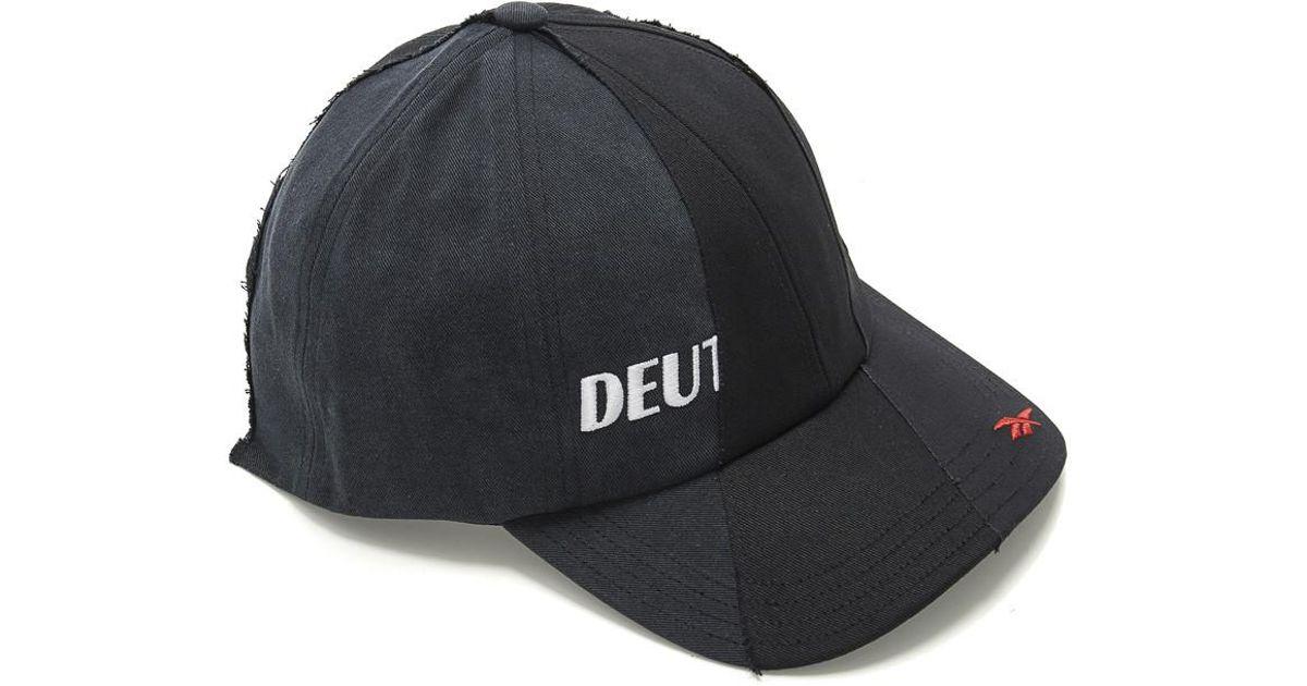 Lyst - Vetements X Reebok Reworked Cap in Black for Men 952c6f75617