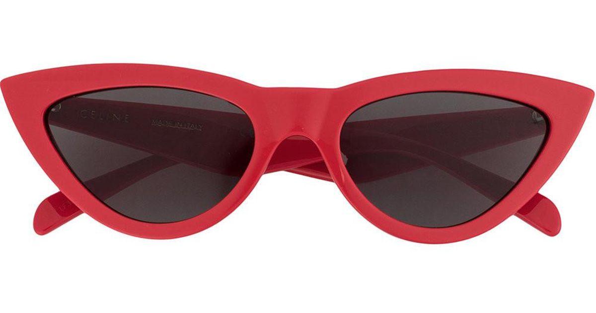 cf5f781b83e7 Lyst - Céline Cat Eye Sunglasses in Red