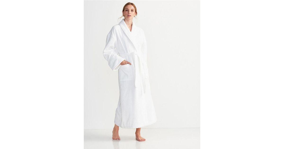 59077dac1e The White Company Unisex Cotton Classic Robe in White - Lyst