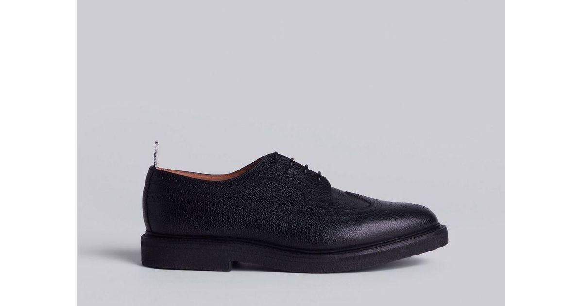 594cb026b05269 Thom Browne Classic Brogues With Gum Sole In Black Pebble Grain in Black for  Men - Lyst