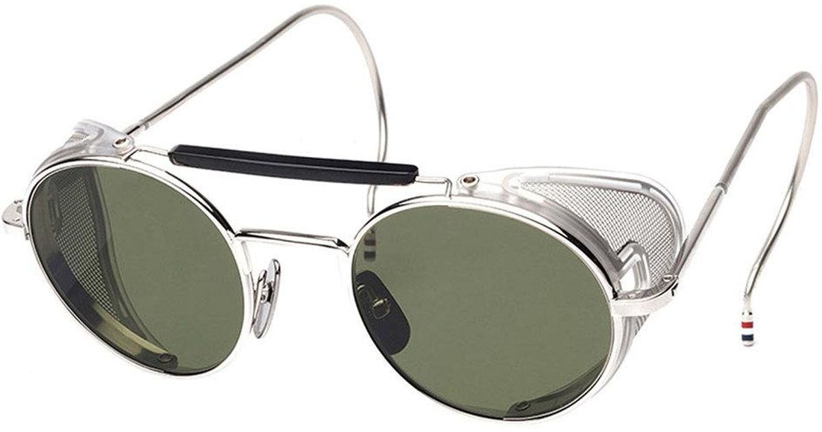 a81dd74ba8 Thom Browne Silver Mesh Side Sunglasses in Metallic for Men - Lyst