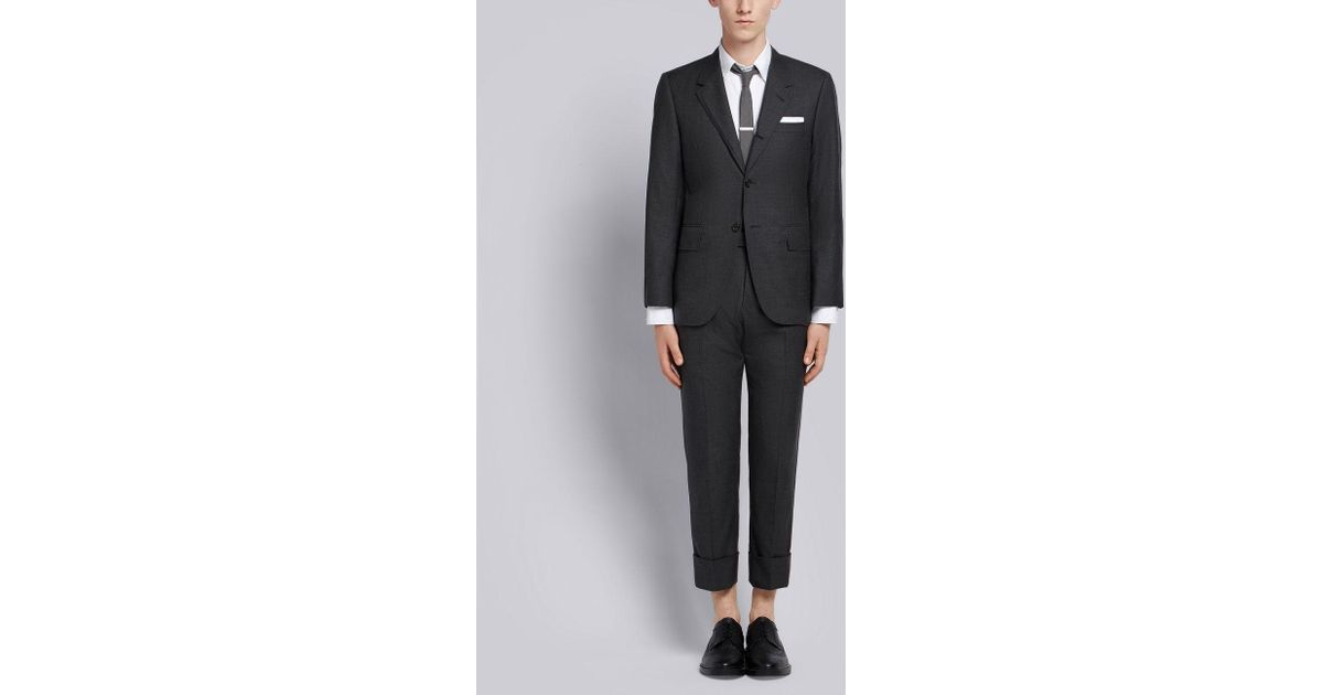 1455d12bd2 Lyst - Thom Browne Wide Lapel Suit With Tie in Gray for Men