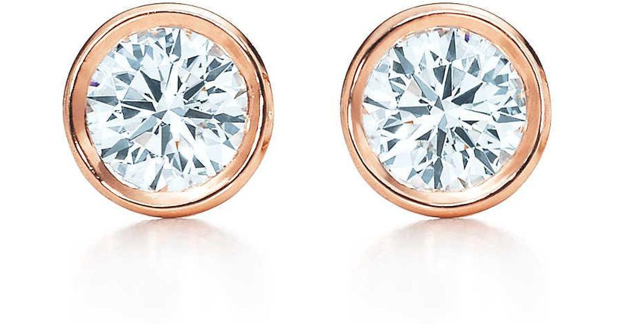 Elsa Peretti Diamonds by the Yard earrings in 18k gold - Size.28 Tiffany & Co. EBScD0ig5