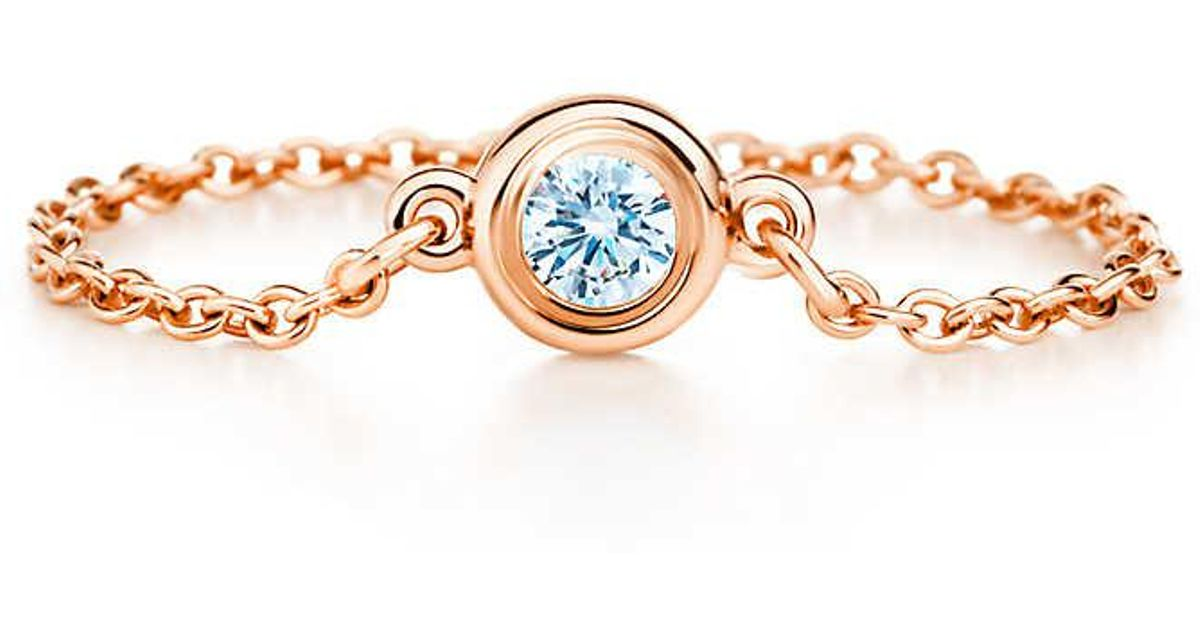 b4b350a4a Tiffany & Co. Elsa Peretti. Diamonds By The Yard. Ring In 18k Rose Gold - 4  in Pink - Lyst