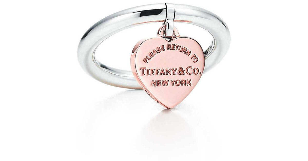 ebfdeb3a1 Tiffany & Co. Heart Tag Ring in Metallic - Lyst