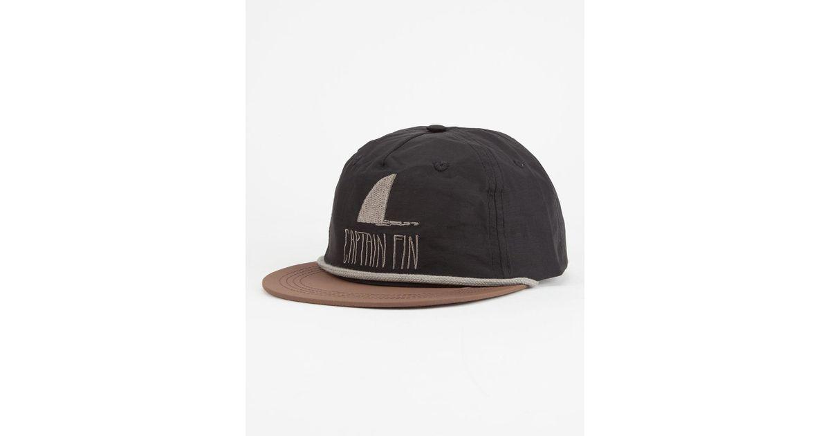 d801ab1c3 Captain Fin - Black Shark Fin Mens Snapback Hat for Men - Lyst