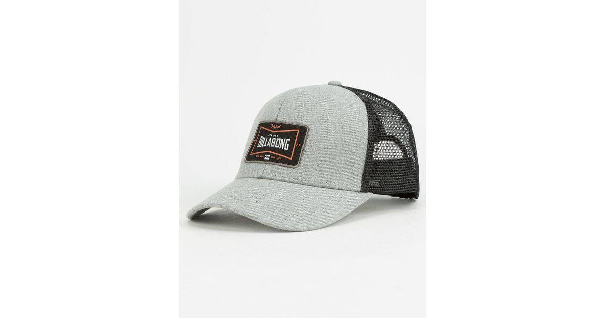 fd1df7406aec2 Lyst - Billabong Walled Mens Trucker Hat in Gray for Men