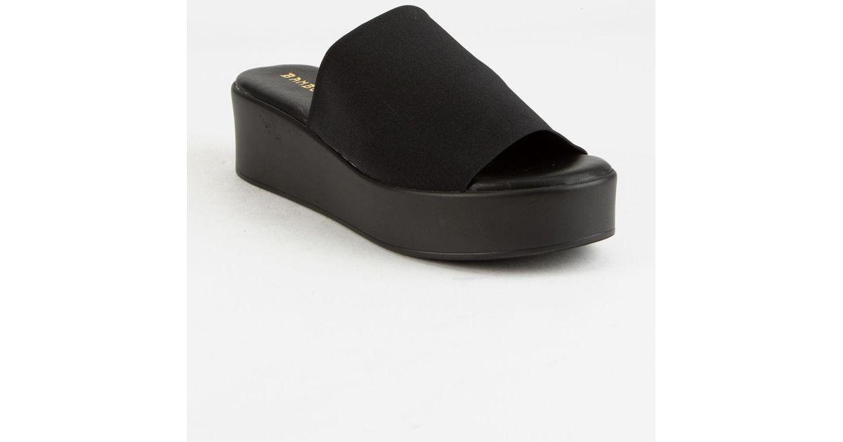 c240cad3a952 Lyst - Bamboo Stretch Slide Womens Flatform Sandals in Black