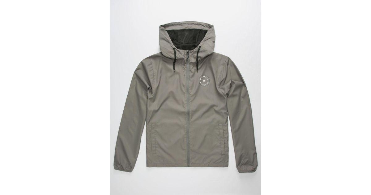8052ab1bf Lyst - Billabong Slicker Mens Windbreaker Jacket in Gray for Men