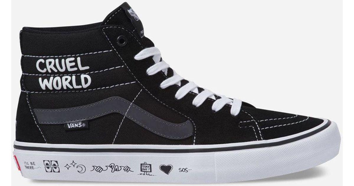 56bd2290573 Lyst - Vans X Cult Sk8-hi Pro Mens Shoes in Black for Men