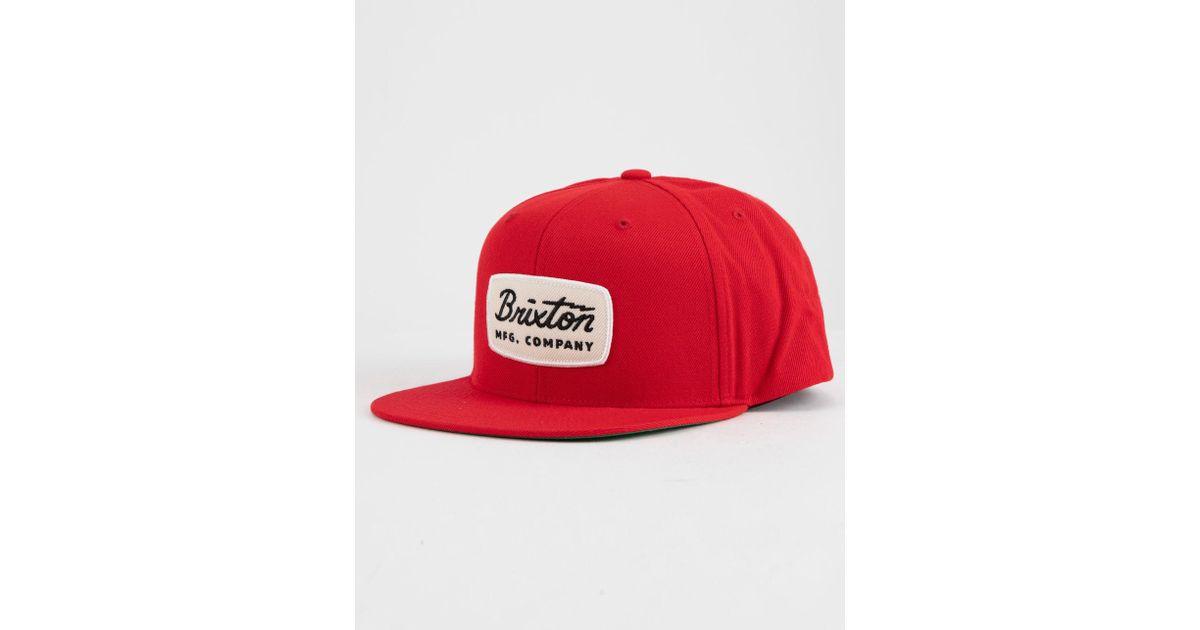 51c55bd8081 ... aliexpress lyst brixton jolt red mens snapback in red for men f6443  6fd41