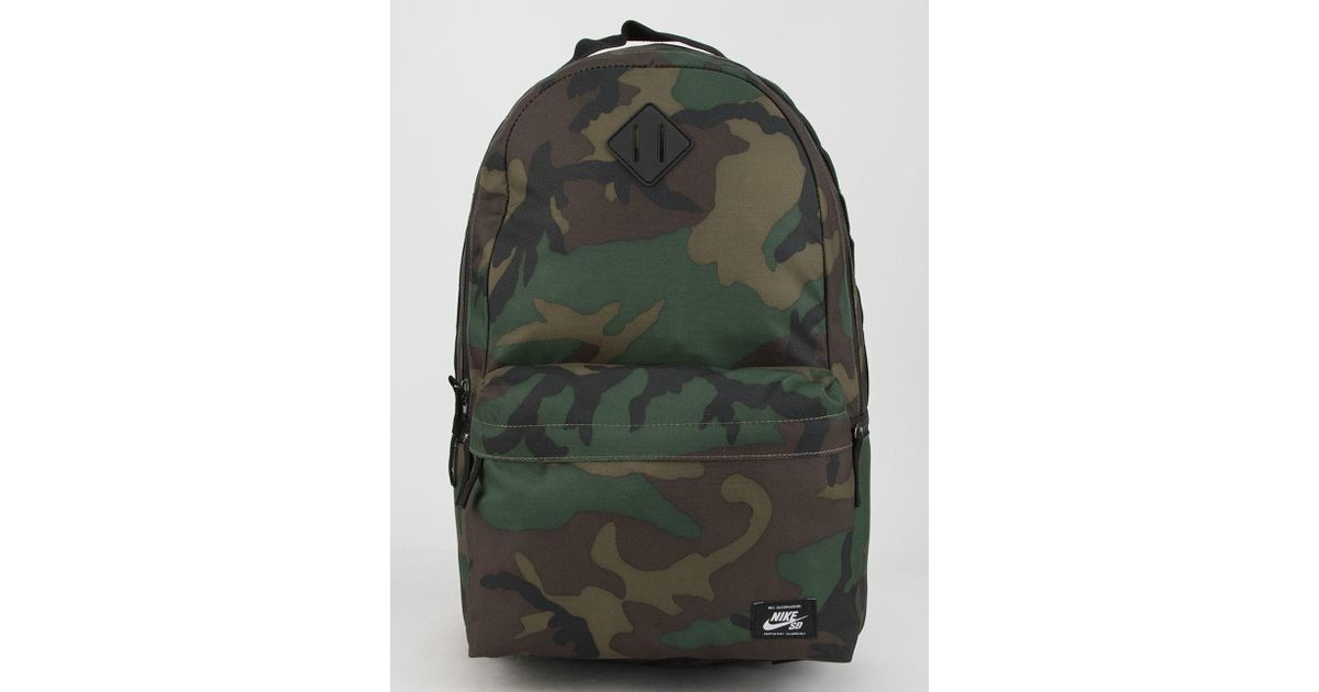 970fc0150a18 Lyst - Nike Sb Icon Camo Backpack in Green for Men