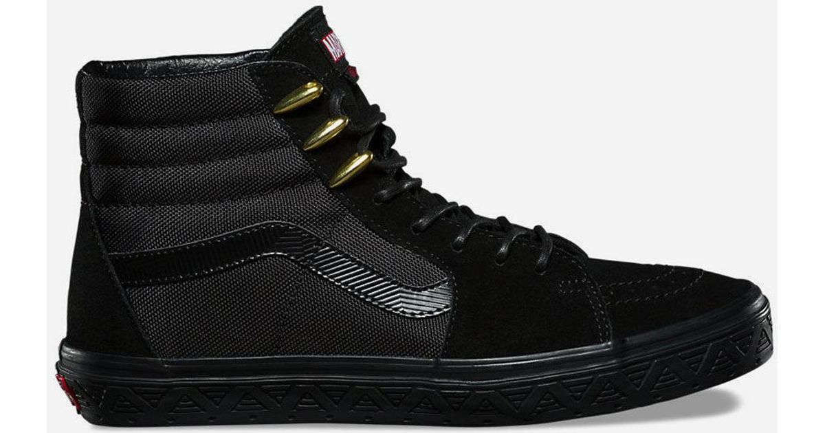 958f78008d Lyst - Vans X Marvel Black Panther Sk8-hi Shoes in Black for Men