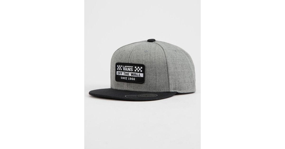 Lyst - Vans Hickam Mens Snapback Hat in Gray for Men a39a9c1cb
