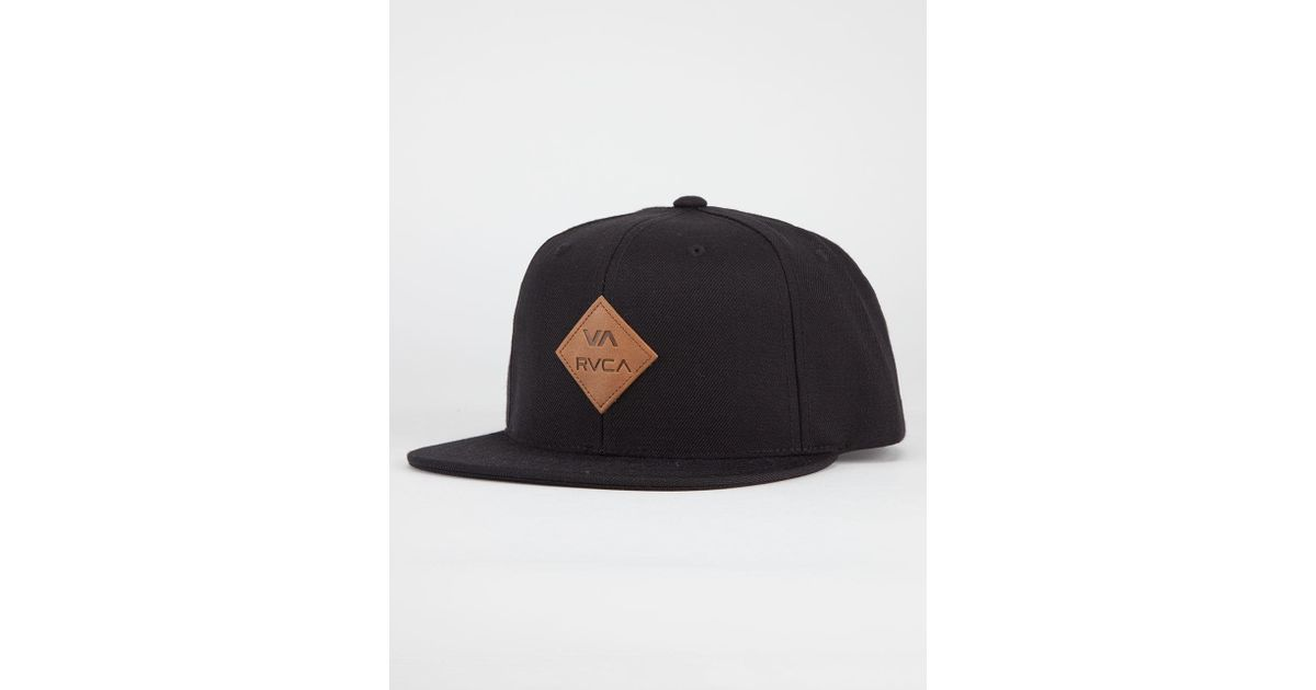 the best attitude 5b010 8123f ... usa lyst rvca delux mens snapback hat in black for men aa077 30b62