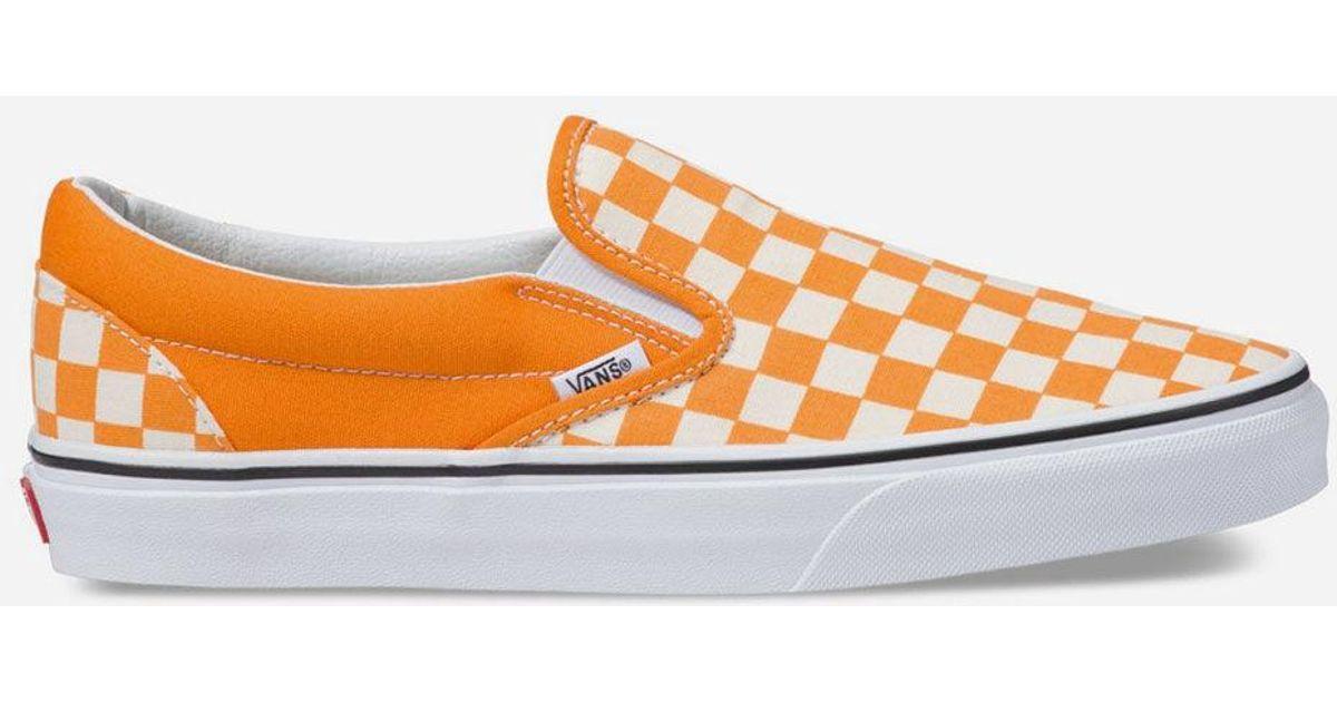 90d778720ed1 Lyst - Vans Checkerboard Classic Slip-on Dark Cheddar Shoes