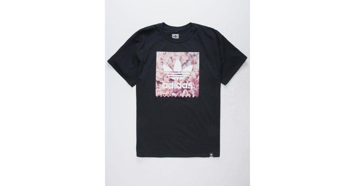 31c0fb39 adidas Blackbird Cherry Blossom Black Mens T-shirt in Black for Men - Lyst
