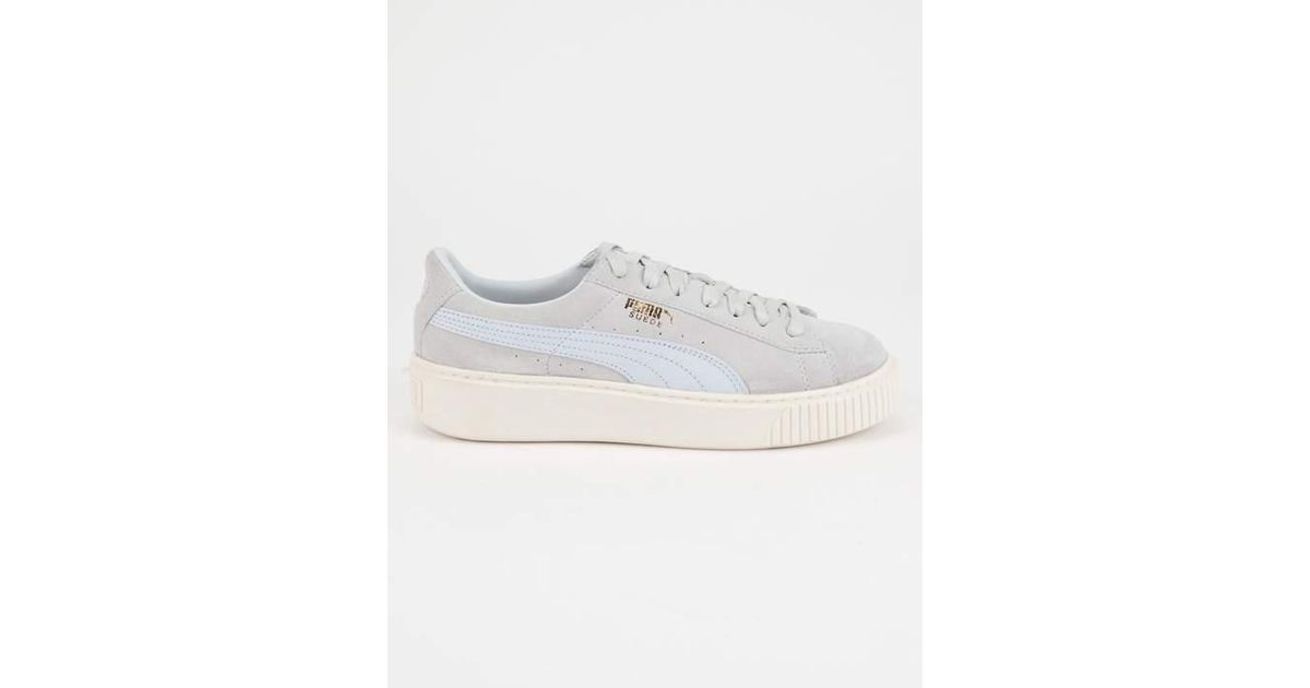 Lyst - PUMA Suede Platform Core Womens Shoes in Blue 645bfca62