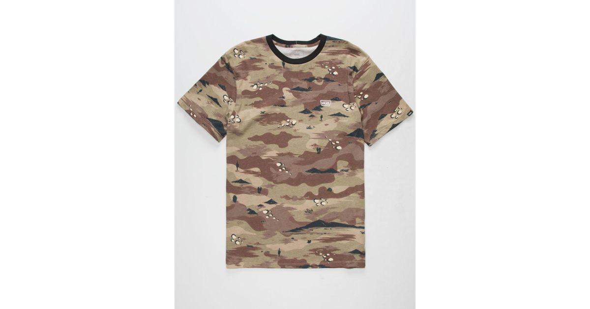 459747c1cf Lyst - Vans Desert Camo Ringer Mens T-shirt in Natural for Men