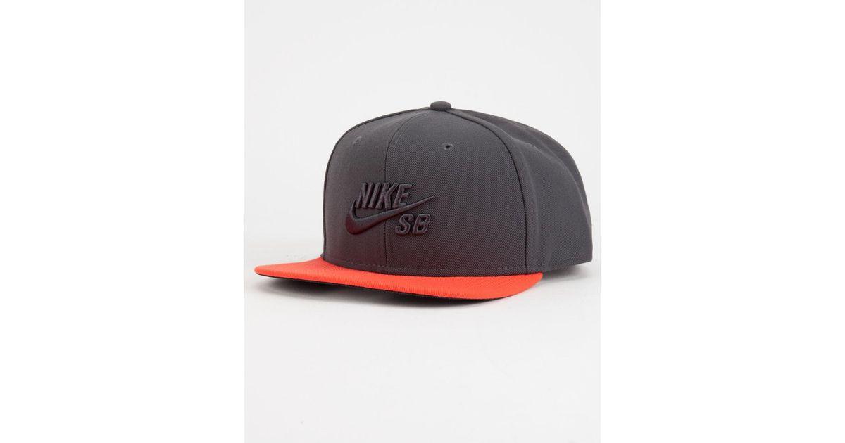 51274237754 Lyst - Nike Sb Icon Pro Mens Snapback Hat for Men