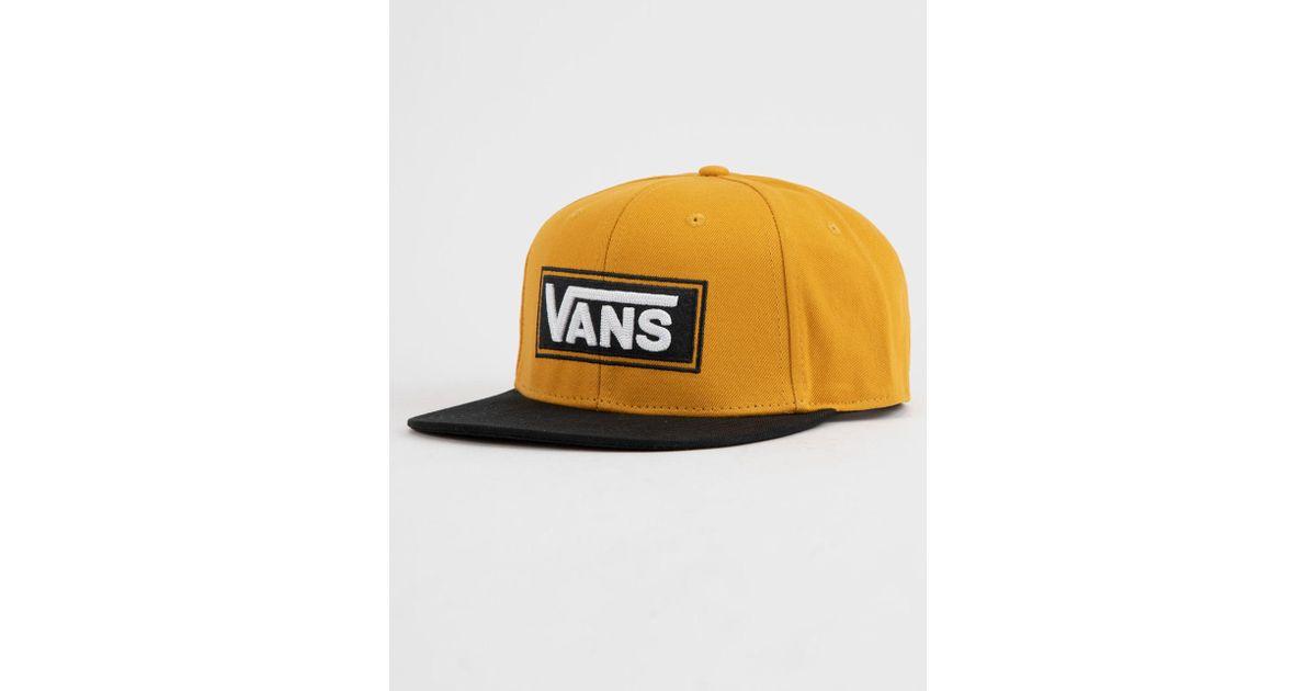 Lyst - Vans X Tillys Drop V Sunflower Mens Snapback Hat in Yellow for Men 9f4de3e51