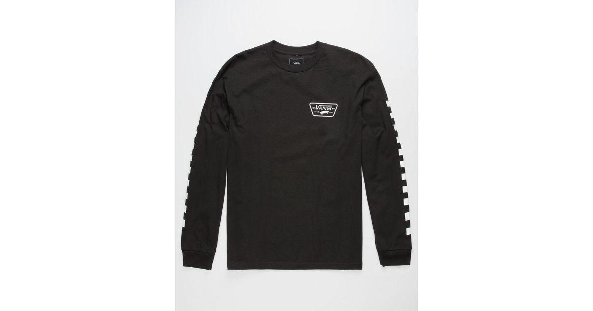 cca4173eb2 Lyst - Vans Full Patch Checkmate Mens T-shirt in Black for Men