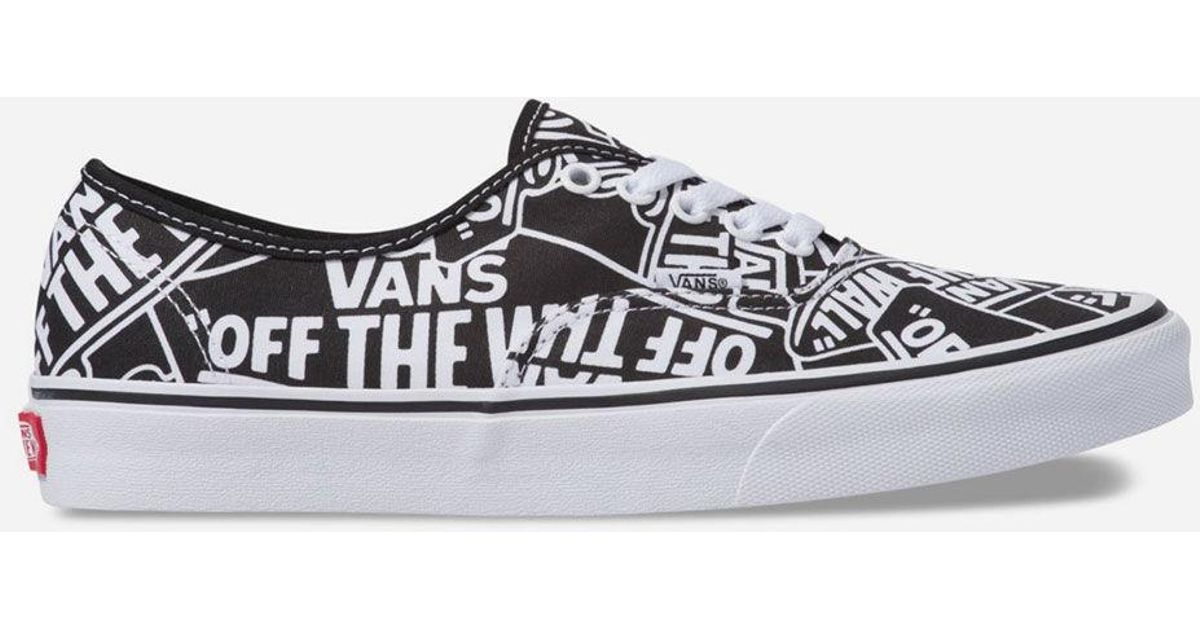 Lyst - Vans Otw Repeat Authentic Black   White Shoes in White for Men -  Save 38% f56630113
