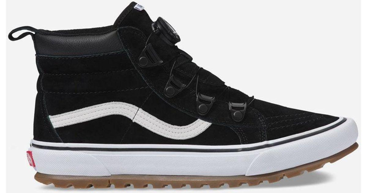 86b79050ec6c09 Lyst - Vans Sk8-hi Mte Boa Black   True White Shoes in Black for Men