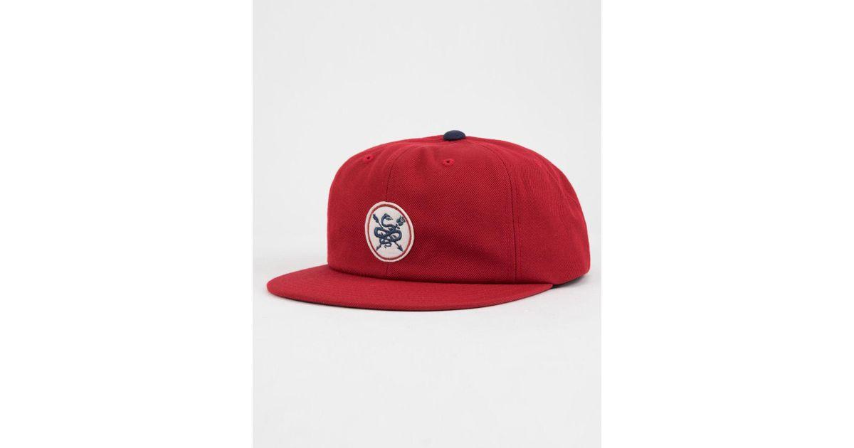 Lyst - Primitive Serpent Black Mens Snapback Hat in Red for Men d0740841f48
