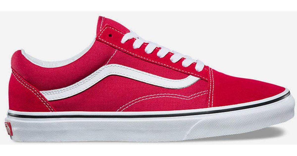 Lyst - Vans Old Skool Crimson   True White Shoes in Red for Men 670edea90e