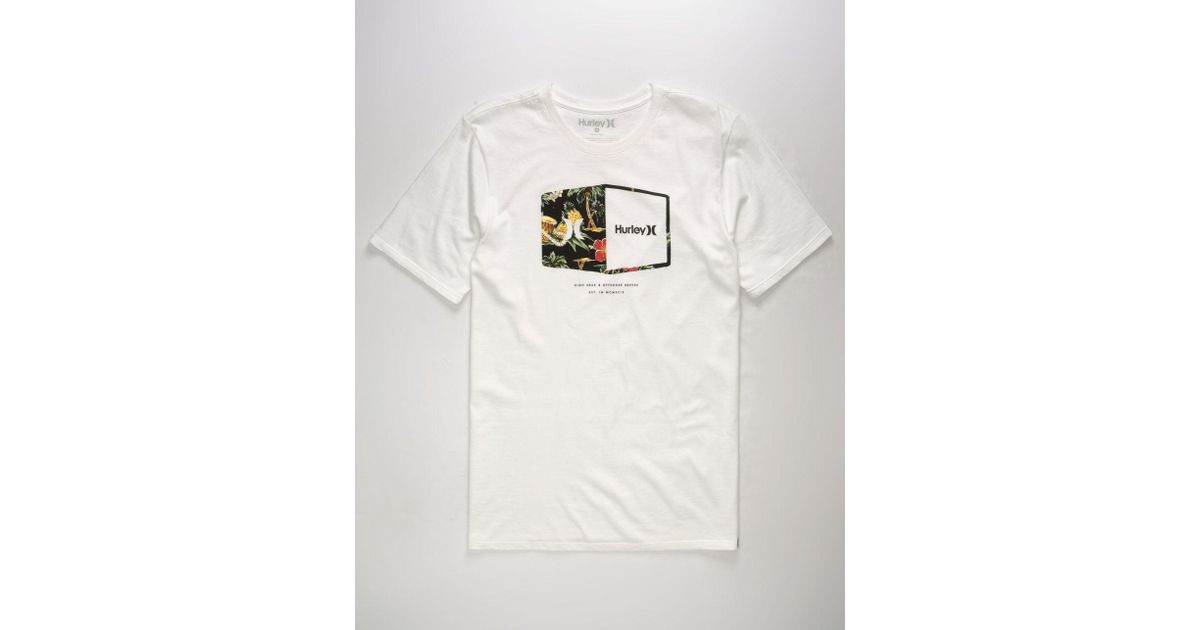 998a08ee3c9 Lyst - Hurley Plaque White Mens T-shirt in White for Men