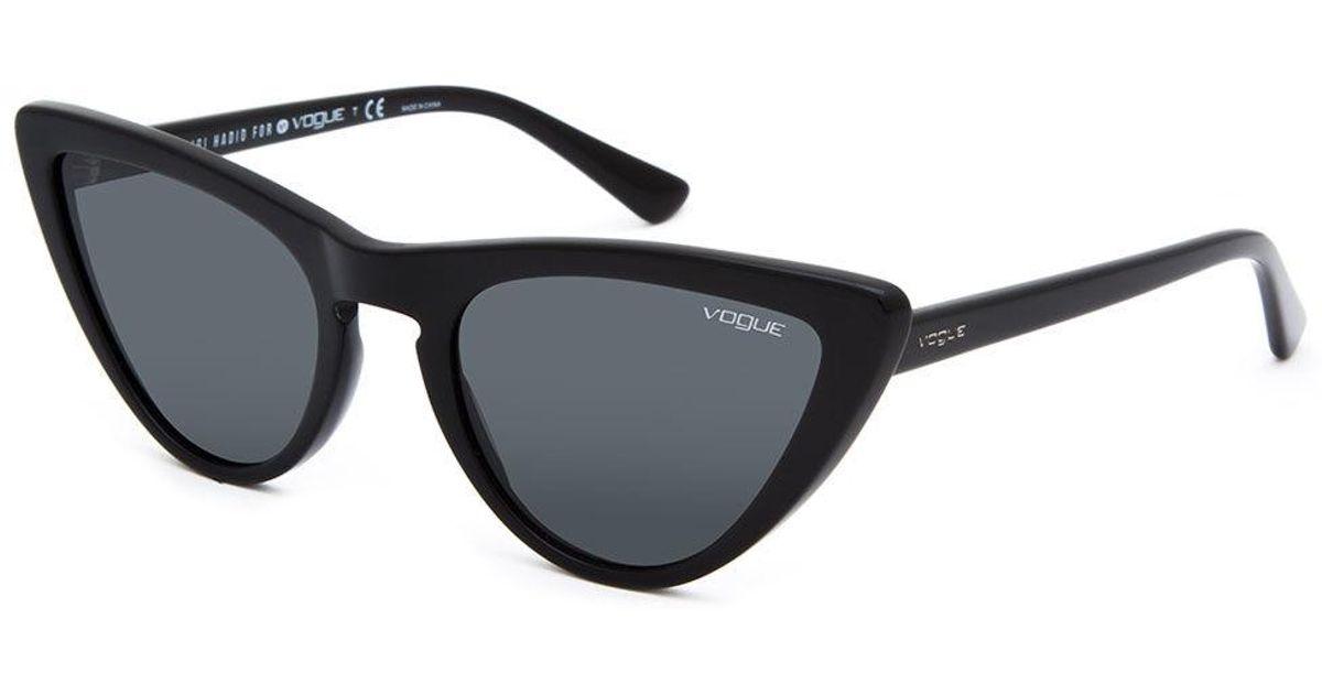 06886307c5e Lyst - Vogue Eyewear Gigi Hadid For Vogue V05211s Black   Grey Sunglasses  in Gray