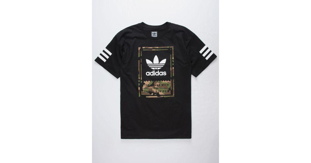 6f1edc0f adidas Camo Classic Mens T-shirt in Black for Men - Lyst