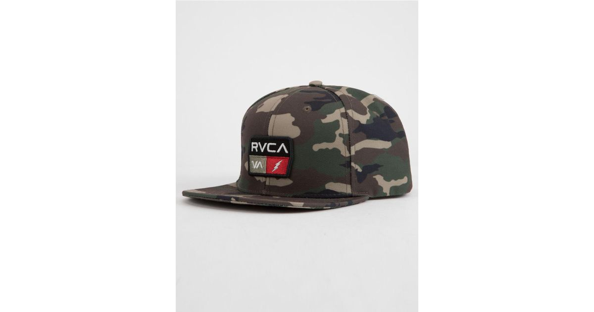 9cc97de9f RVCA - Multicolor 9volt Camo Mens Snapback Hat for Men - Lyst
