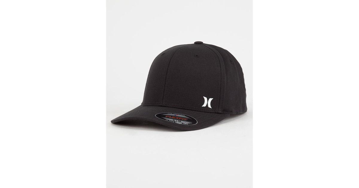 new york 28c8f 5c96f ... greece lyst hurley dri fit flow mens flex fit hat in black for men  87f79 c9450