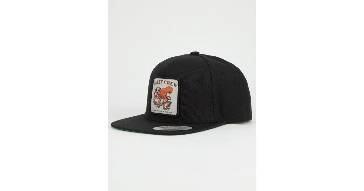 e8c957af807a0 Salty Crew Eight Legs Mens Snapback Hat in Black for Men - Lyst