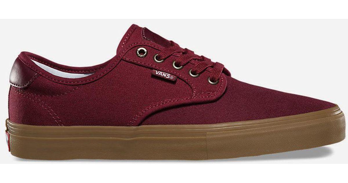 6dc7226b91a2 Lyst - Vans Chima Ferguson Pro Port Cabernet   Gum Mens Shoes in Red for Men