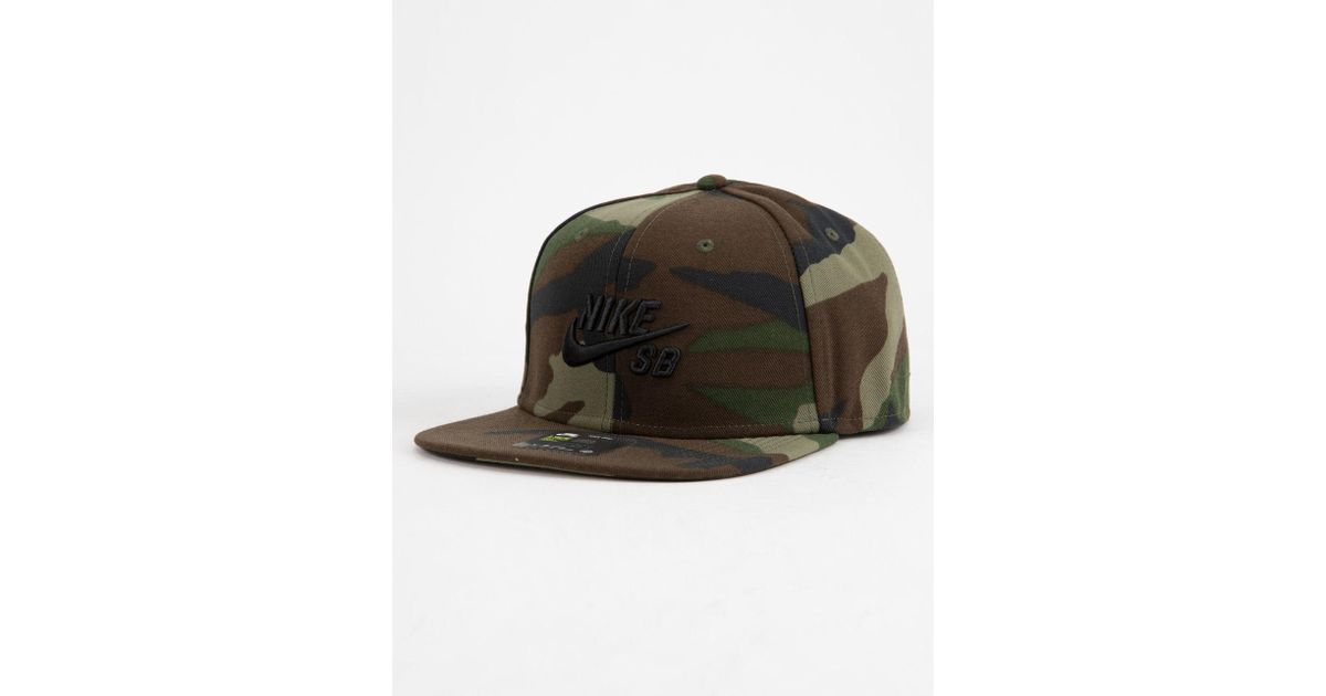 db7a25b64b3df Lyst - Nike Pro Camo Mens Snapback Hat in Green for Men