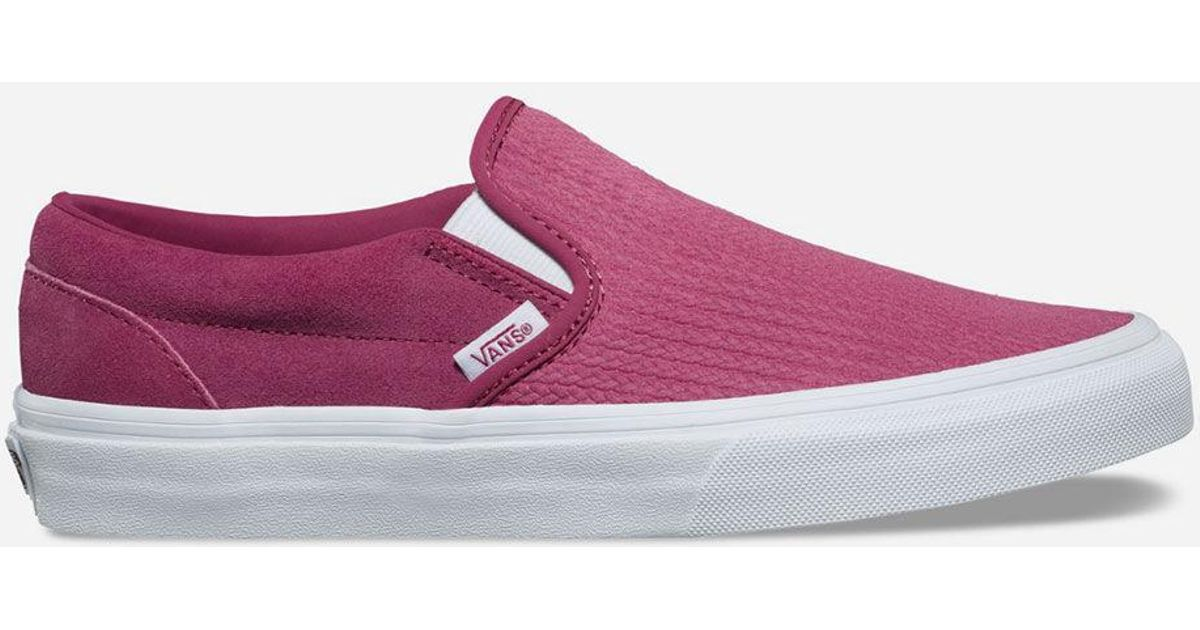 Lyst - Vans Suede Canvas Classic Slip-on Wine Womens Shoes in Purple 68cd7f101