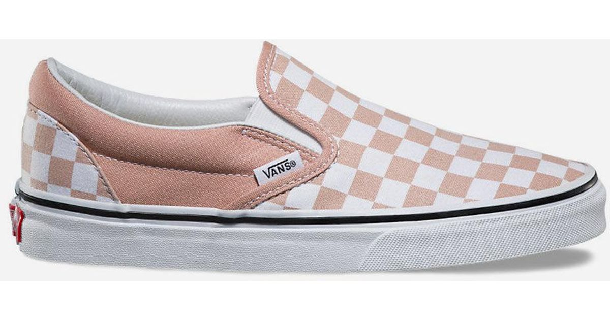 slip on checkerboard vans womens