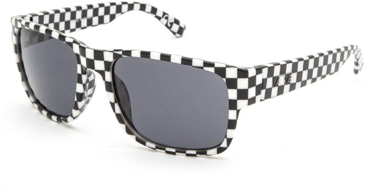 13f12c191d49 Lyst - Vans Darr Wrap Checkered Sunglasses for Men