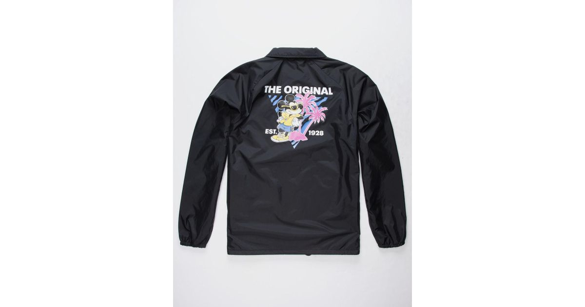 2b8b873f0a Lyst - Vans Disney X 80s Mickey Mens Torrey Coach Jacket in Black for Men