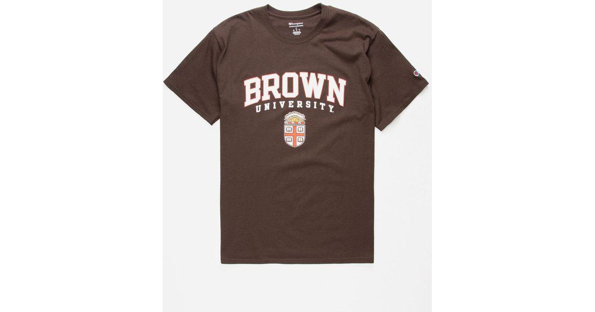 3b3adba465b1 Champion Brown University Mens T-shirt in Brown for Men - Lyst