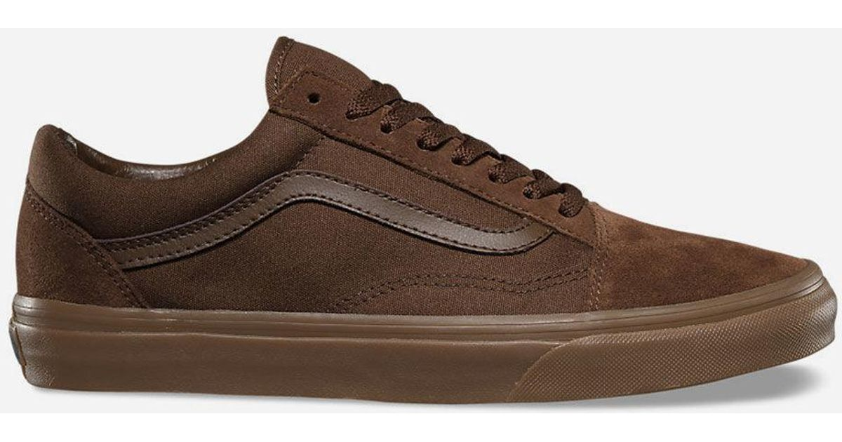 c85a8bfab166 Lyst - Vans Suede Canvas Old Skool Shoes in Brown for Men