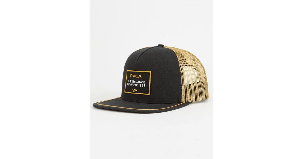 4358c12d ... switzerland lyst rvca billboard mens trucker hat in black for men db64a  0d154