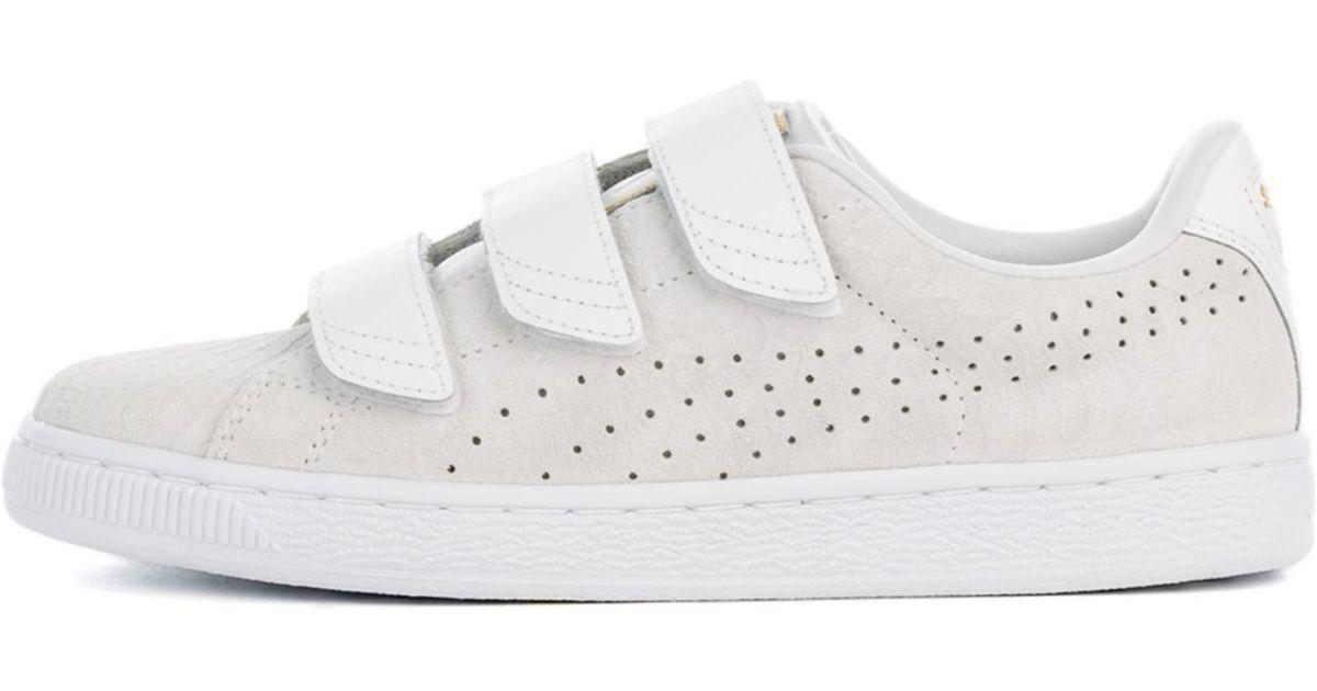 Basket Puma White Sneaker Exoticskin Strap Lyst NnO0PkwX8